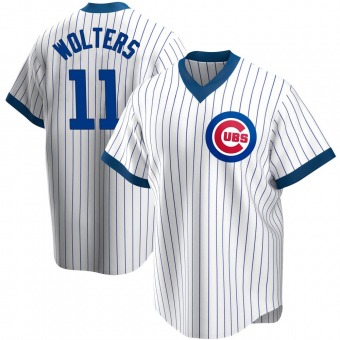 Men's Tony Wolters Chicago White Replica Home Cooperstown Collection Baseball Jersey (Unsigned No Brands/Logos)