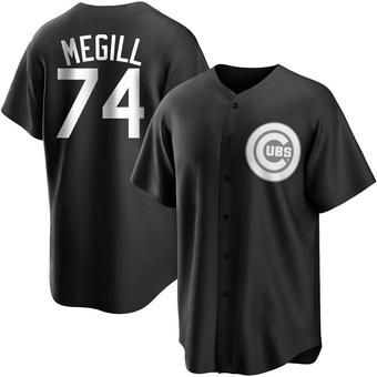 Men's Trevor Megill Chicago Black/White Replica Baseball Jersey (Unsigned No Brands/Logos)