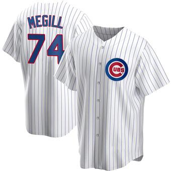 Men's Trevor Megill Chicago White Replica Home Baseball Jersey (Unsigned No Brands/Logos)