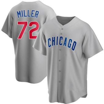 Men's Tyson Miller Chicago Gray Replica Road Baseball Jersey (Unsigned No Brands/Logos)