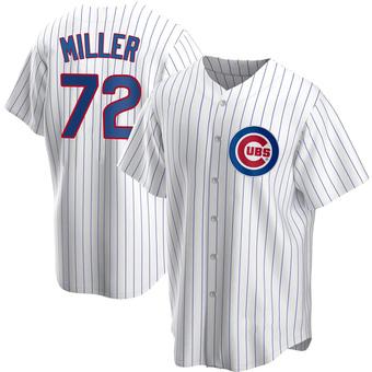 Men's Tyson Miller Chicago White Replica Home Baseball Jersey (Unsigned No Brands/Logos)
