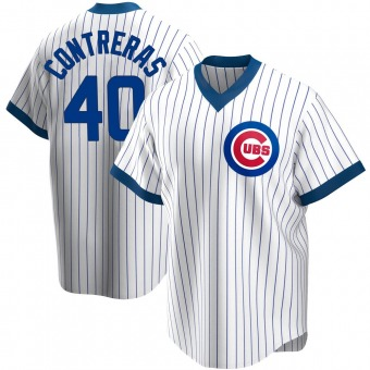 Men's Willson Contreras Chicago White Replica Home Cooperstown Collection Baseball Jersey (Unsigned No Brands/Logos)