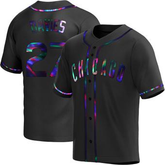 Men's Zach Davies Chicago Black Holographic Replica Alternate Baseball Jersey (Unsigned No Brands/Logos)