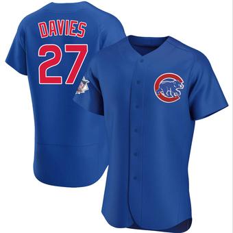 Men's Zach Davies Chicago Royal Authentic Alternate Baseball Jersey (Unsigned No Brands/Logos)