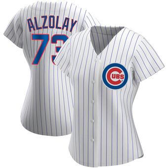 Women's Adbert Alzolay Chicago White Replica Home Baseball Jersey (Unsigned No Brands/Logos)