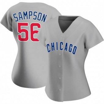 Women's Adrian Sampson Chicago Gray Replica Road Baseball Jersey (Unsigned No Brands/Logos)