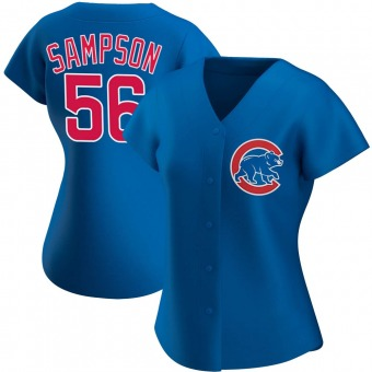 Women's Adrian Sampson Chicago Royal Authentic Alternate Baseball Jersey (Unsigned No Brands/Logos)