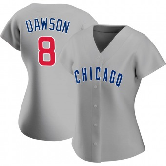 Women's Andre Dawson Chicago Gray Authentic Road Baseball Jersey (Unsigned No Brands/Logos)
