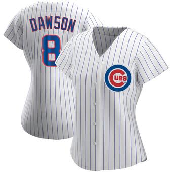 Women's Andre Dawson Chicago White Replica Home Baseball Jersey (Unsigned No Brands/Logos)