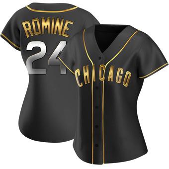 Women's Andrew Romine Chicago Black Golden Alternate Baseball Jersey (Unsigned No Brands/Logos)