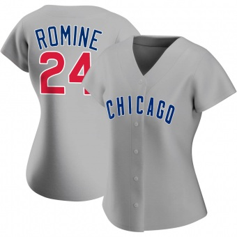 Women's Andrew Romine Chicago Gray Authentic Road Baseball Jersey (Unsigned No Brands/Logos)