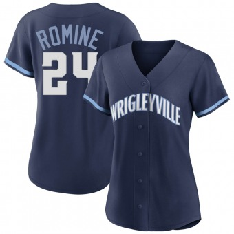 Women's Andrew Romine Chicago Navy Authentic 2021 City Connect Baseball Jersey (Unsigned No Brands/Logos)