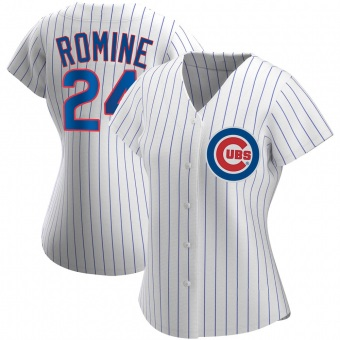 Women's Andrew Romine Chicago White Authentic Home Baseball Jersey (Unsigned No Brands/Logos)
