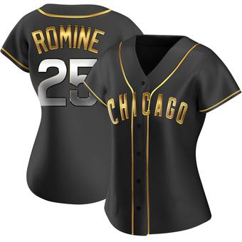 Women's Austin Romine Chicago Black Golden Alternate Baseball Jersey (Unsigned No Brands/Logos)