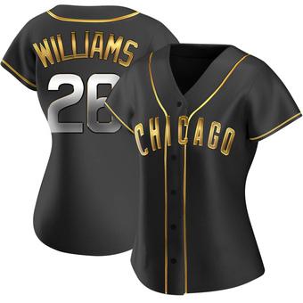 Women's Billy Williams Chicago Black Golden Replica Alternate Baseball Jersey (Unsigned No Brands/Logos)