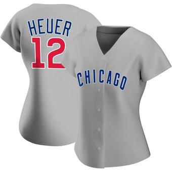 Women's Codi Heuer Chicago Gray Replica Road Baseball Jersey (Unsigned No Brands/Logos)