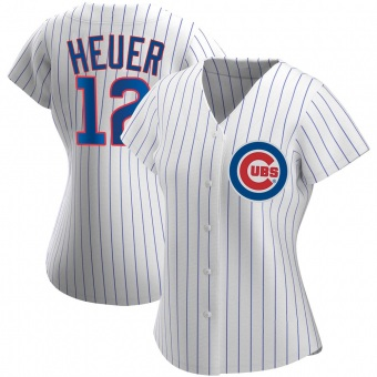Women's Codi Heuer Chicago White Authentic Home Baseball Jersey (Unsigned No Brands/Logos)