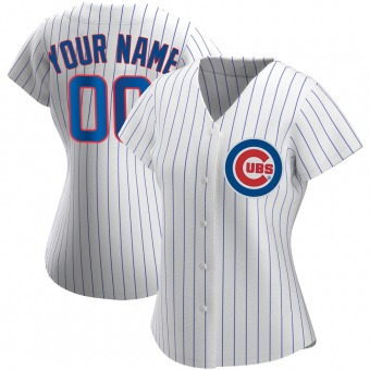 Women's Custom Chicago White Authentic Home Baseball Jersey (Unsigned No Brands/Logos)