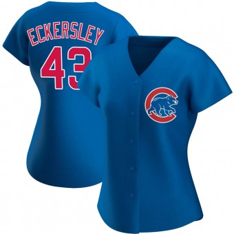 Women's Dennis Eckersley Chicago Royal Authentic Alternate Baseball Jersey (Unsigned No Brands/Logos)