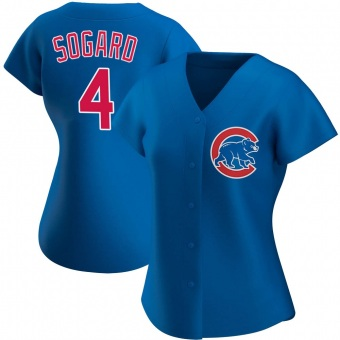 Women's Eric Sogard Chicago Royal Authentic Alternate Baseball Jersey (Unsigned No Brands/Logos)