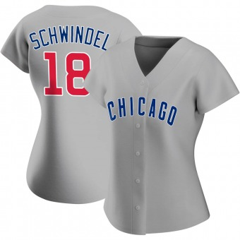 Women's Frank Schwindel Chicago Gray Authentic Road Baseball Jersey (Unsigned No Brands/Logos)