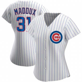Women's Greg Maddux Chicago White Authentic Home Baseball Jersey (Unsigned No Brands/Logos)
