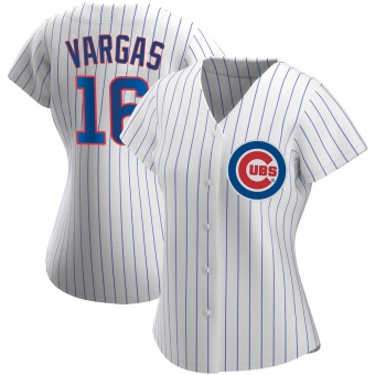 Women's Ildemaro Vargas Chicago White Authentic Home Baseball Jersey (Unsigned No Brands/Logos)