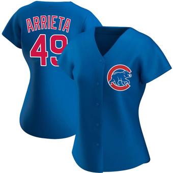 Women's Jake Arrieta Chicago Royal Authentic Alternate Baseball Jersey (Unsigned No Brands/Logos)