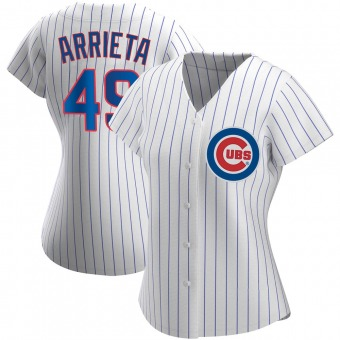 Women's Jake Arrieta Chicago White Authentic Home Baseball Jersey (Unsigned No Brands/Logos)