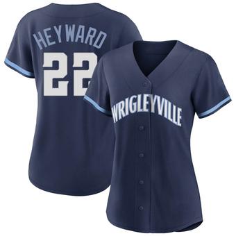 Women's Jason Heyward Chicago Navy Replica 2021 City Connect Baseball Jersey (Unsigned No Brands/Logos)