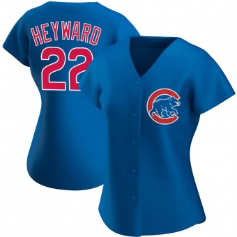 Women's Jason Heyward Chicago Royal Authentic Alternate Baseball Jersey (Unsigned No Brands/Logos)