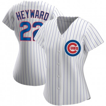 Women's Jason Heyward Chicago White Authentic Home Baseball Jersey (Unsigned No Brands/Logos)