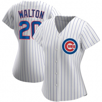 Women's Jerome Walton Chicago White Replica Home Baseball Jersey (Unsigned No Brands/Logos)