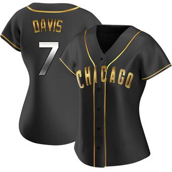 Women's Jody Davis Chicago Black Golden Replica Alternate Baseball Jersey (Unsigned No Brands/Logos)
