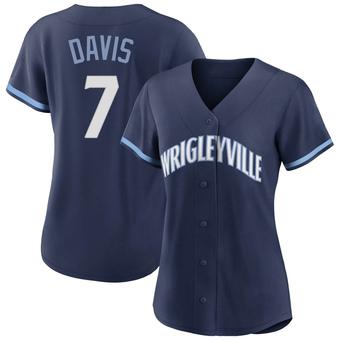 Women's Jody Davis Chicago Navy Replica 2021 City Connect Baseball Jersey (Unsigned No Brands/Logos)