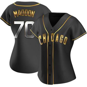 Women's Joe Maddon Chicago Black Golden Replica Alternate Baseball Jersey (Unsigned No Brands/Logos)