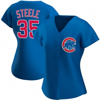 Women's Justin Steele Chicago Royal Authentic Alternate Baseball Jersey (Unsigned No Brands/Logos)