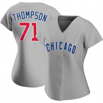 Women's Keegan Thompson Chicago Gray Replica Road Baseball Jersey (Unsigned No Brands/Logos)