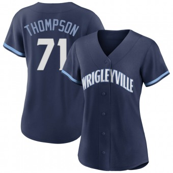 Women's Keegan Thompson Chicago Navy Replica 2021 City Connect Baseball Jersey (Unsigned No Brands/Logos)