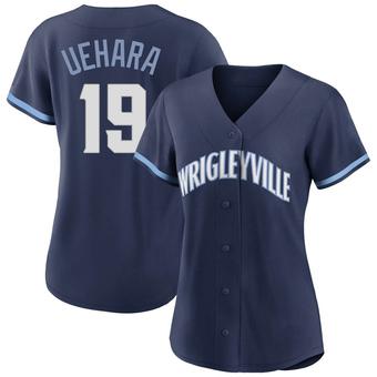 Women's Koji Uehara Chicago Navy Authentic 2021 City Connect Baseball Jersey (Unsigned No Brands/Logos)