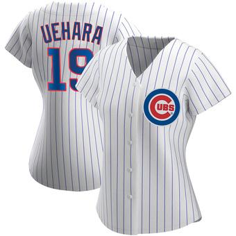 Women's Koji Uehara Chicago White Authentic Home Baseball Jersey (Unsigned No Brands/Logos)