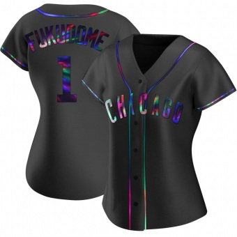 Women's Kosuke Fukudome Chicago Black Holographic Replica Alternate Baseball Jersey (Unsigned No Brands/Logos)