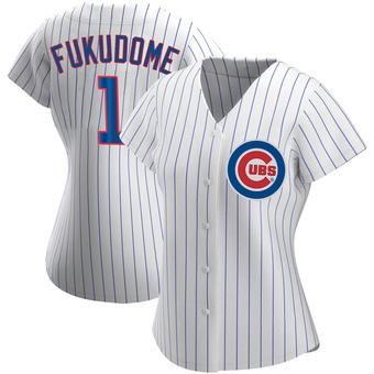 Women's Kosuke Fukudome Chicago White Authentic Home Baseball Jersey (Unsigned No Brands/Logos)