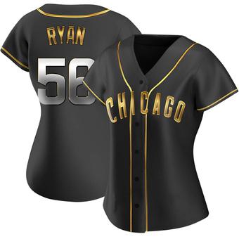Women's Kyle Ryan Chicago Black Golden Replica Alternate Baseball Jersey (Unsigned No Brands/Logos)
