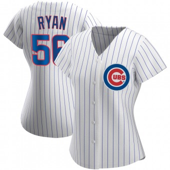 Women's Kyle Ryan Chicago White Authentic Home Baseball Jersey (Unsigned No Brands/Logos)
