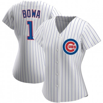 Women's Larry Bowa Chicago White Authentic Home Baseball Jersey (Unsigned No Brands/Logos)