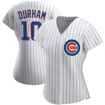 Women's Leon Durham Chicago White Authentic Home Baseball Jersey (Unsigned No Brands/Logos)