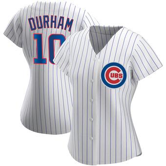Women's Leon Durham Chicago White Replica Home Baseball Jersey (Unsigned No Brands/Logos)