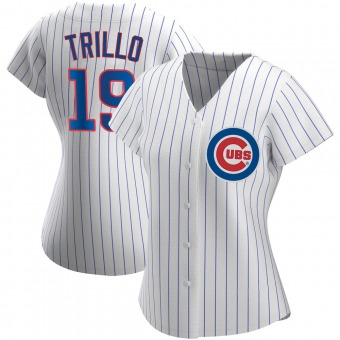 Women's Manny Trillo Chicago White Authentic Home Baseball Jersey (Unsigned No Brands/Logos)