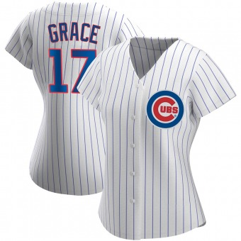 Women's Mark Grace Chicago White Authentic Home Baseball Jersey (Unsigned No Brands/Logos)